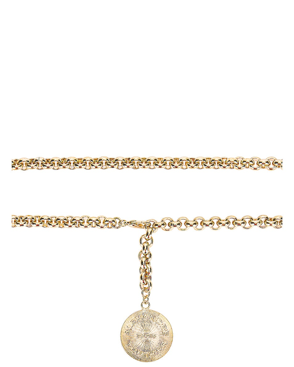 Image 2 of Alexandre Vauthier Chain Belt in Gold