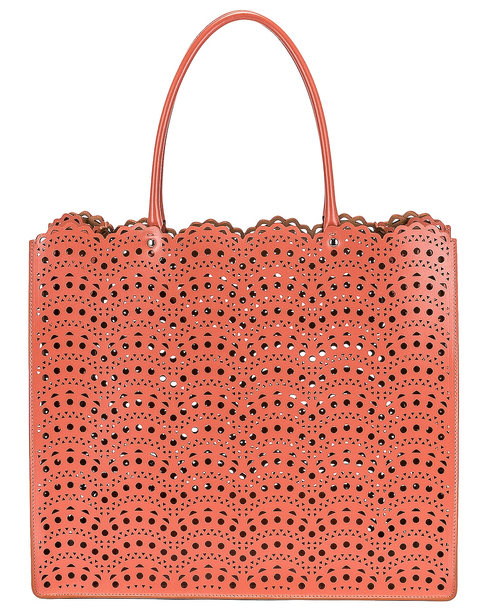Image 1 of ALAÏA Garance 36 Leather Tote in Namibie