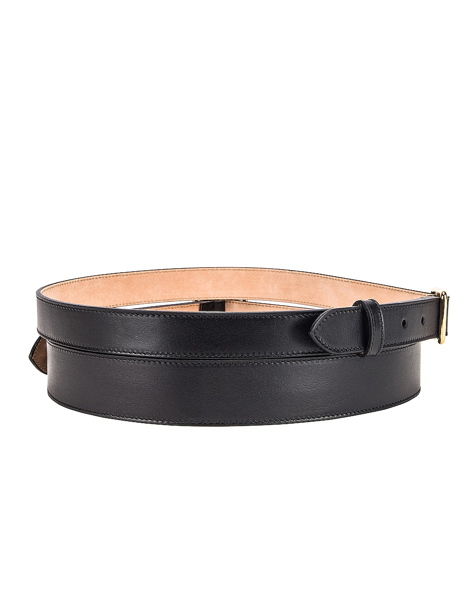 Image 2 of Alexander McQueen Double Strap Belt in Black