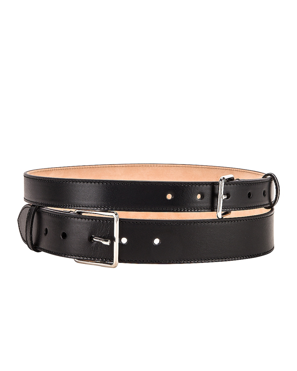Image 1 of Alexander McQueen Double Long Belt in Black