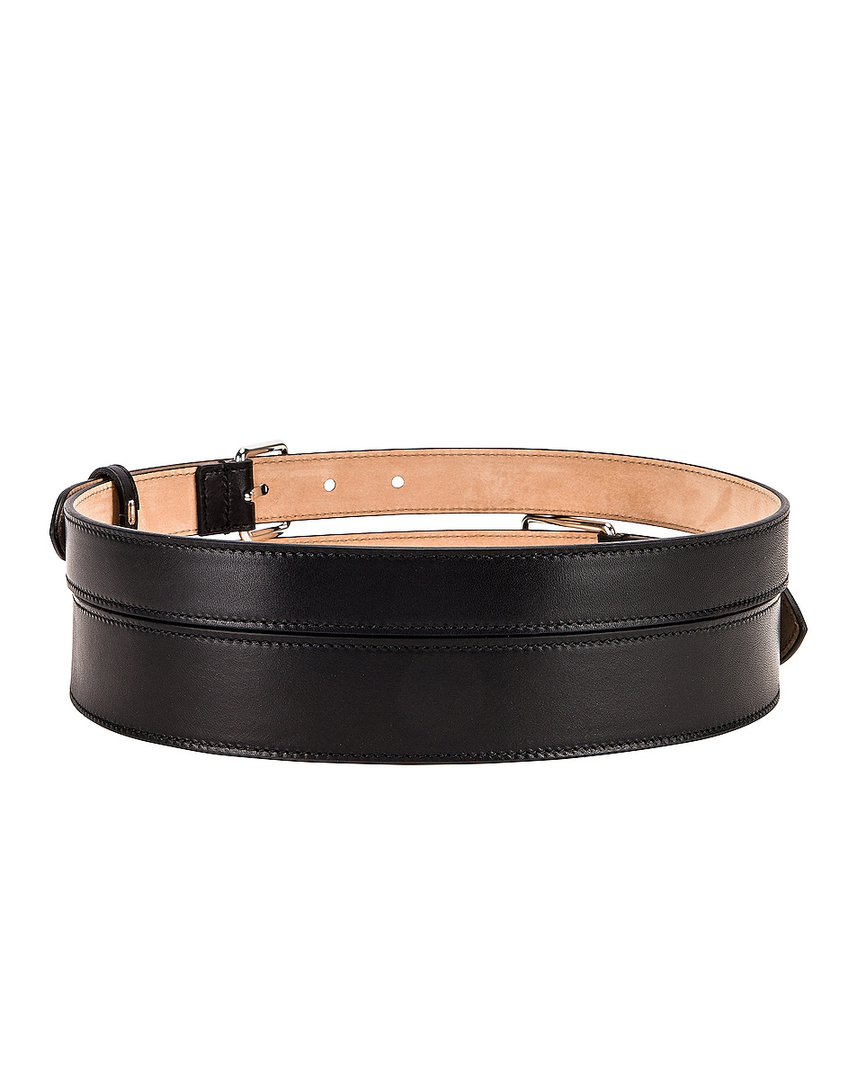 Image 2 of Alexander McQueen Double Long Belt in Black