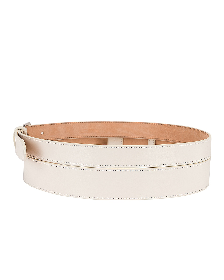 Image 2 of Alexander McQueen Double Long Belt in New Bone