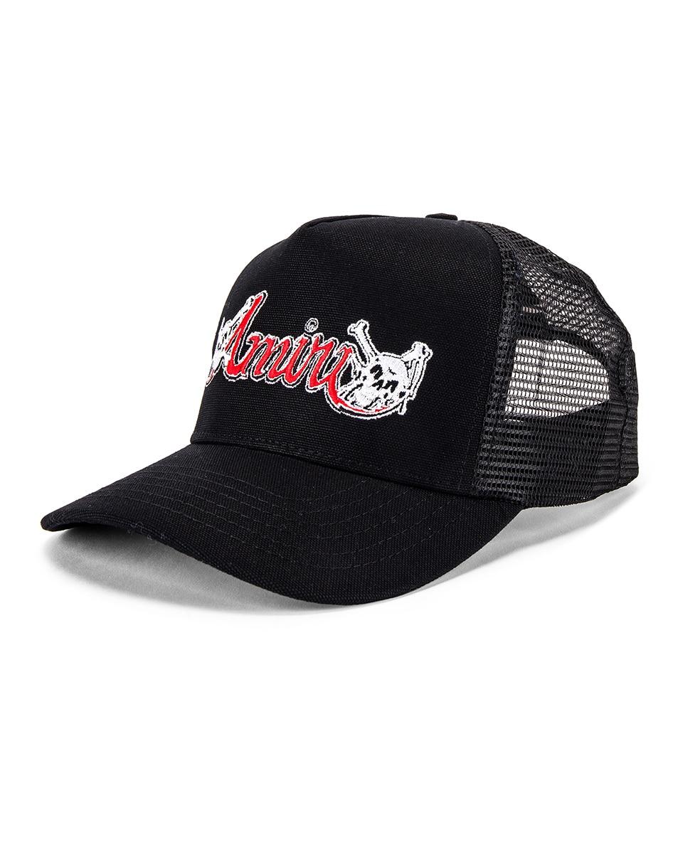 Image 2 of Amiri Motley Crue Trucker Hat in Black