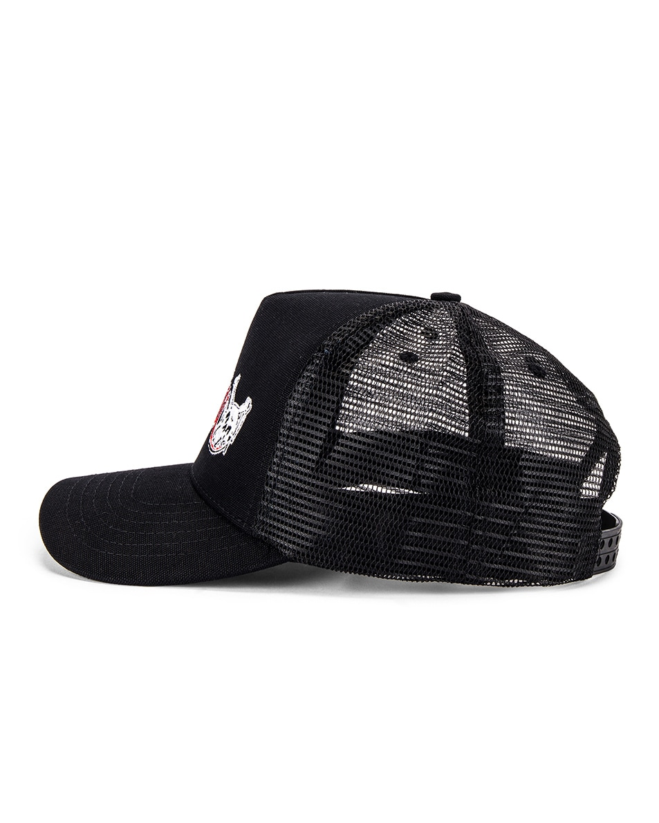 Image 3 of Amiri Motley Crue Trucker Hat in Black