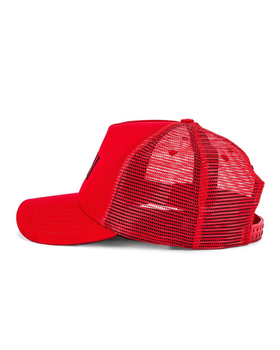 Image 3 of Amiri Trucker Hat in Red & Black