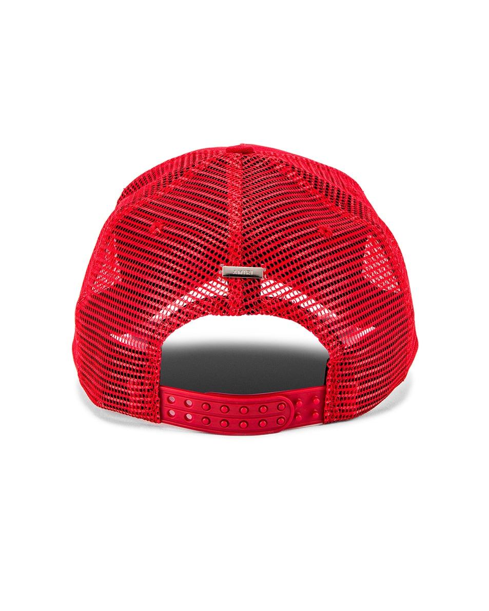 Image 4 of Amiri Trucker Hat in Red & Black