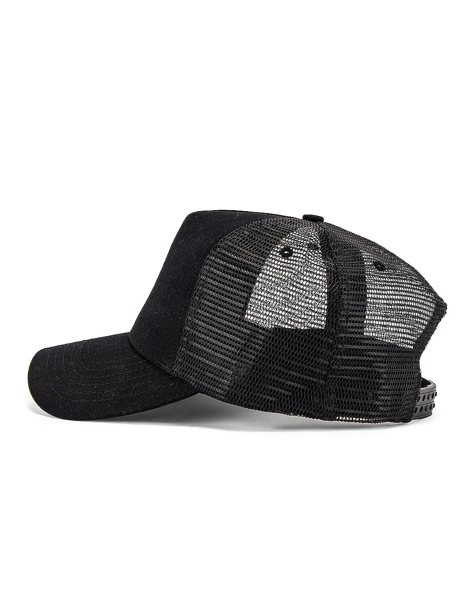 Image 3 of Amiri A Dagger Cotton Trucker Hat in Black
