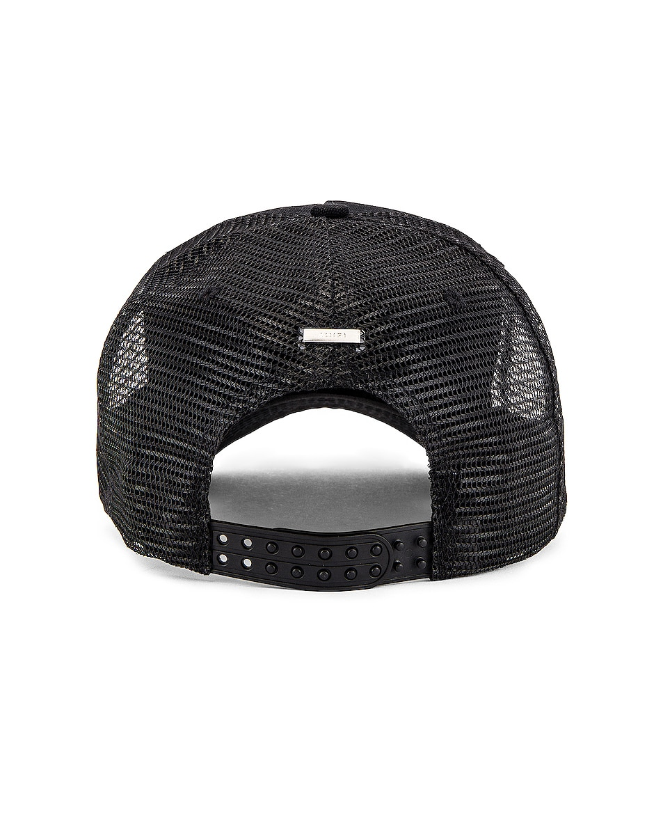 Image 4 of Amiri A Dagger Cotton Trucker Hat in Black
