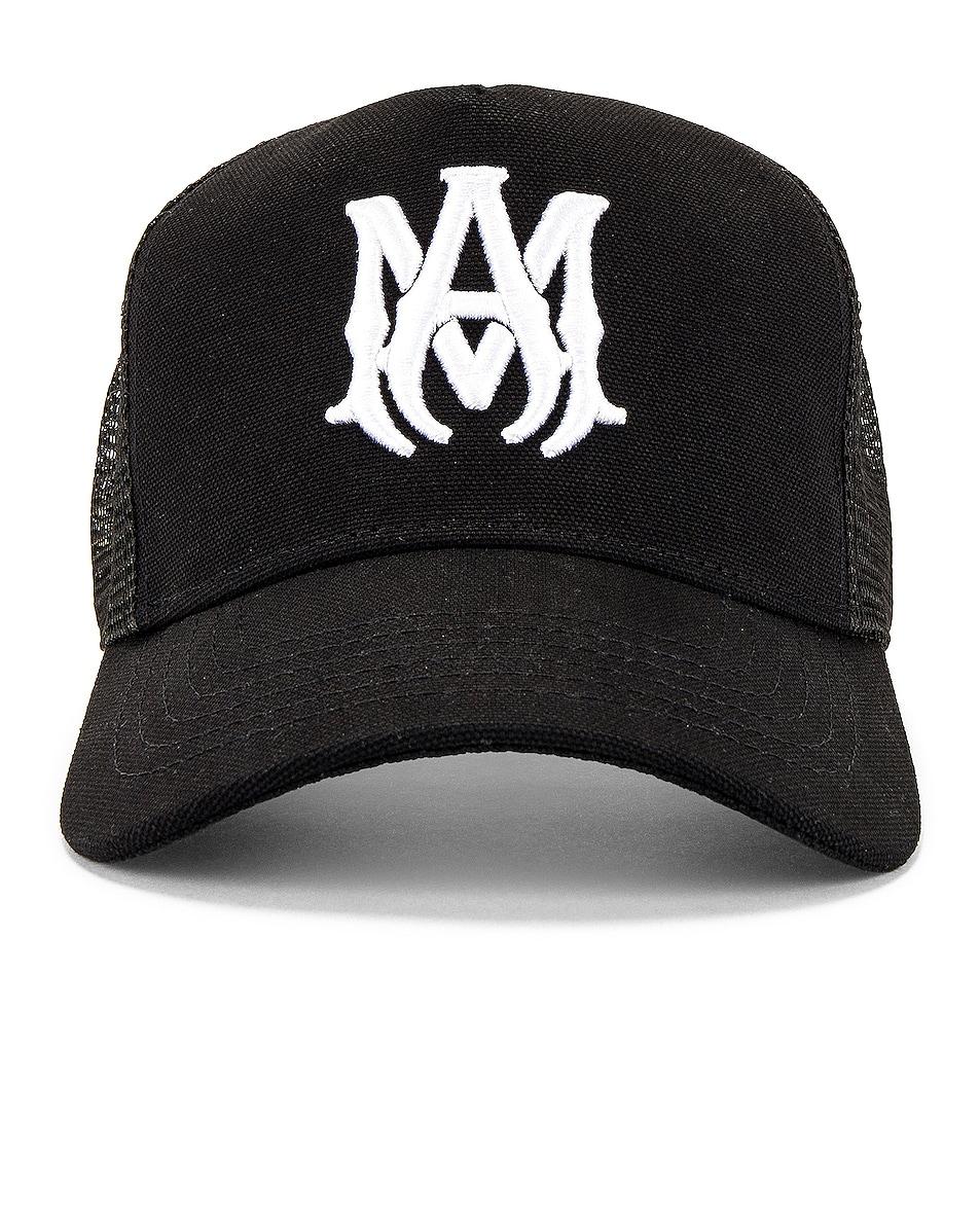 Image 1 of Amiri MA Trucker Hat in Black & White