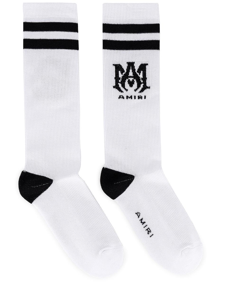 Image 1 of Amiri Ribbed MA Socks in Black