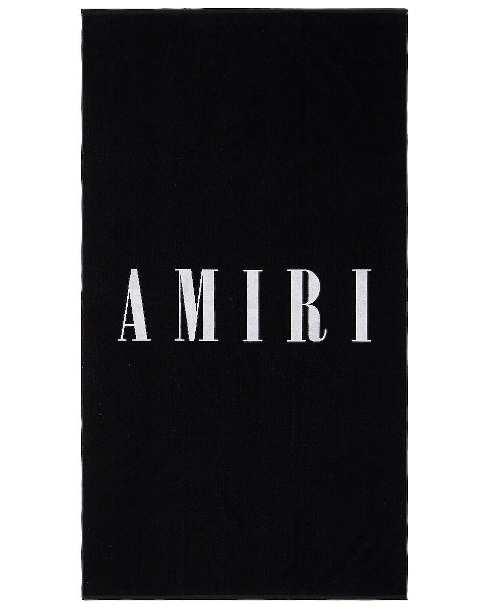 Image 1 of Amiri Small Logo Towel in Black & White