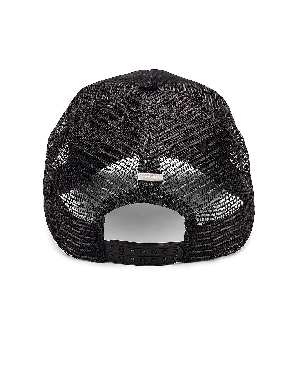 Image 4 of Amiri Star Trucker Hat in Black & Lavender