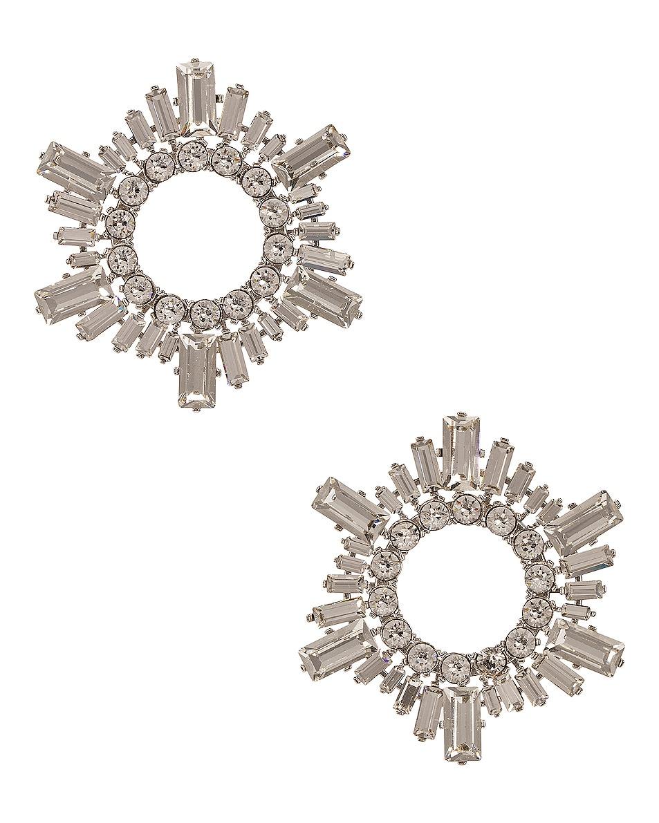 Image 1 of AMINA MUADDI Begum Mini Crystal Earrings in White