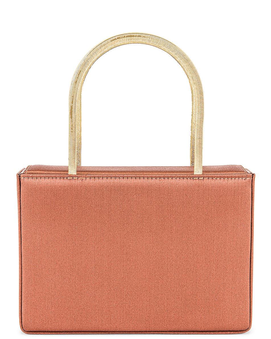 Image 1 of AMINA MUADDI Amini Henson Bag in Chocolate
