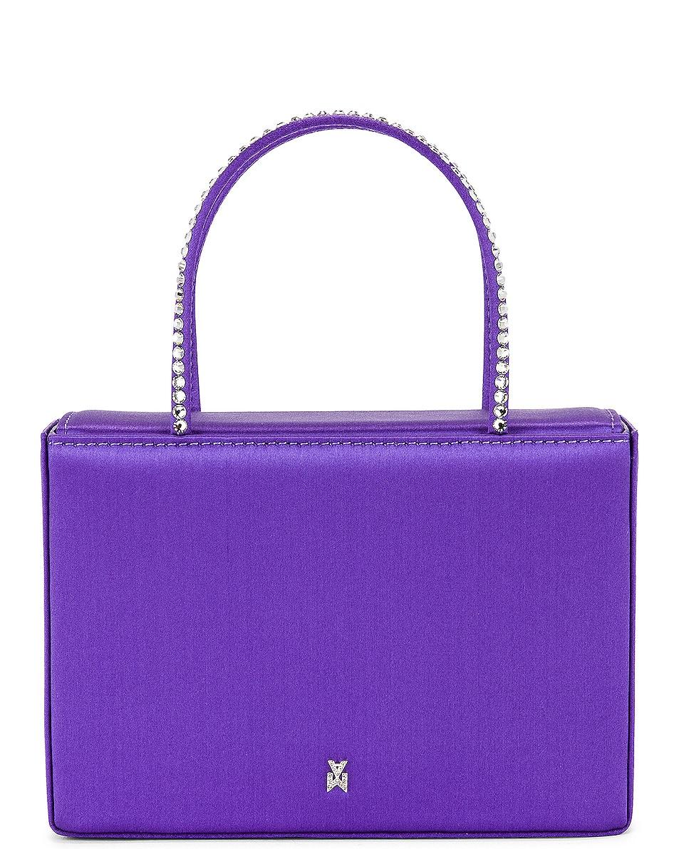 Image 1 of AMINA MUADDI Gilda Crystal Satin Bag in Lilac