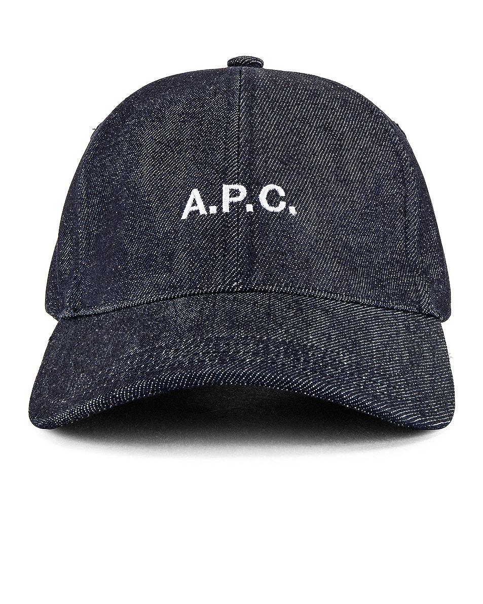 Image 1 of A.P.C. Charlie Baseball Cap in Indigo
