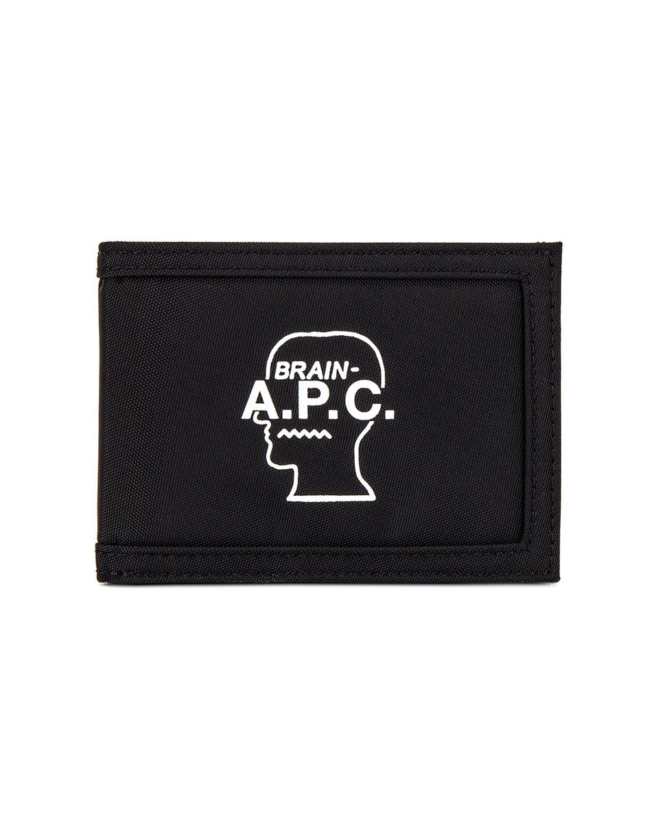 Image 1 of A.P.C. Porte Cartes Brain Dead Wallet in Noir