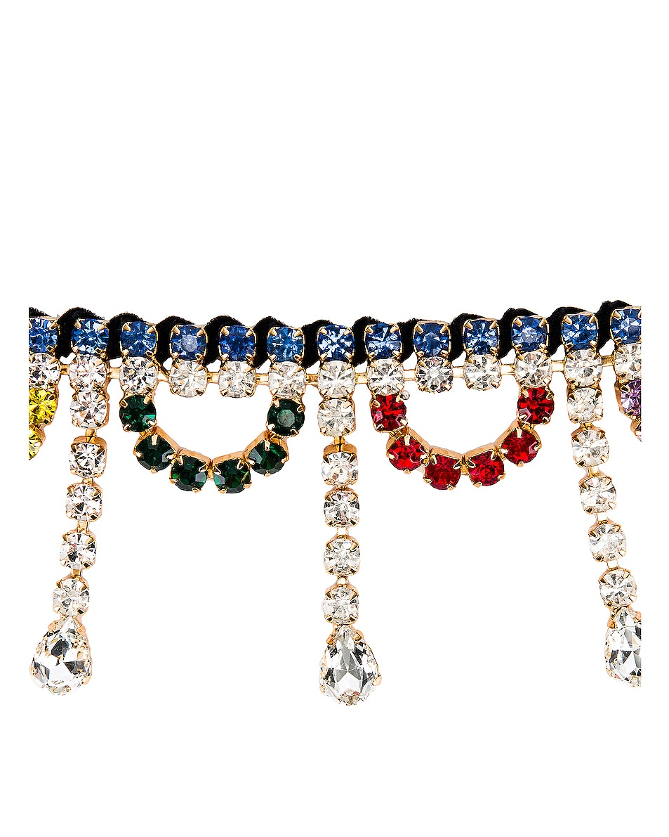 Image 3 of AREA Scalloped Crystal Drop Choker in Multi
