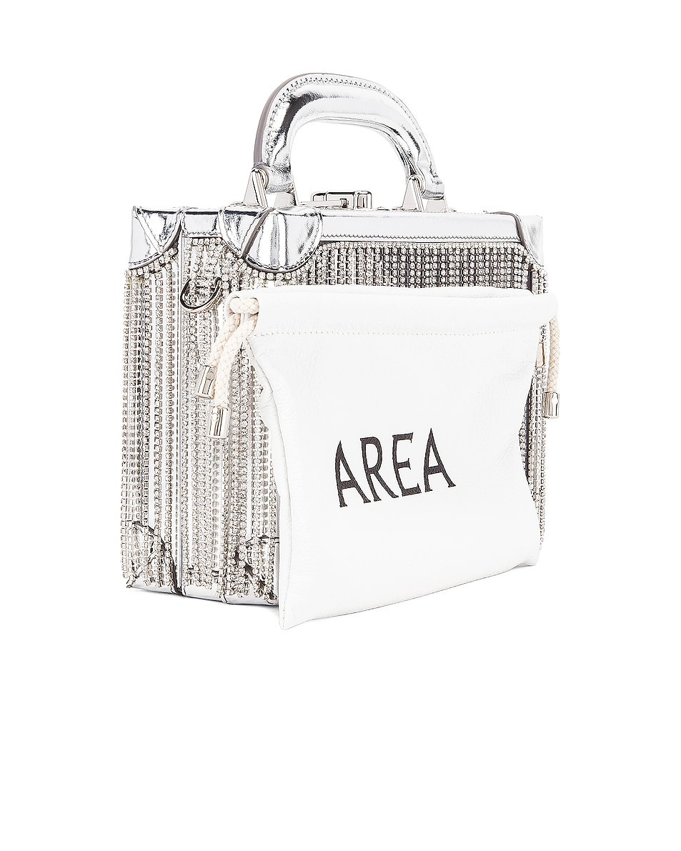 Image 4 of AREA Ling Ling Bag in Silver