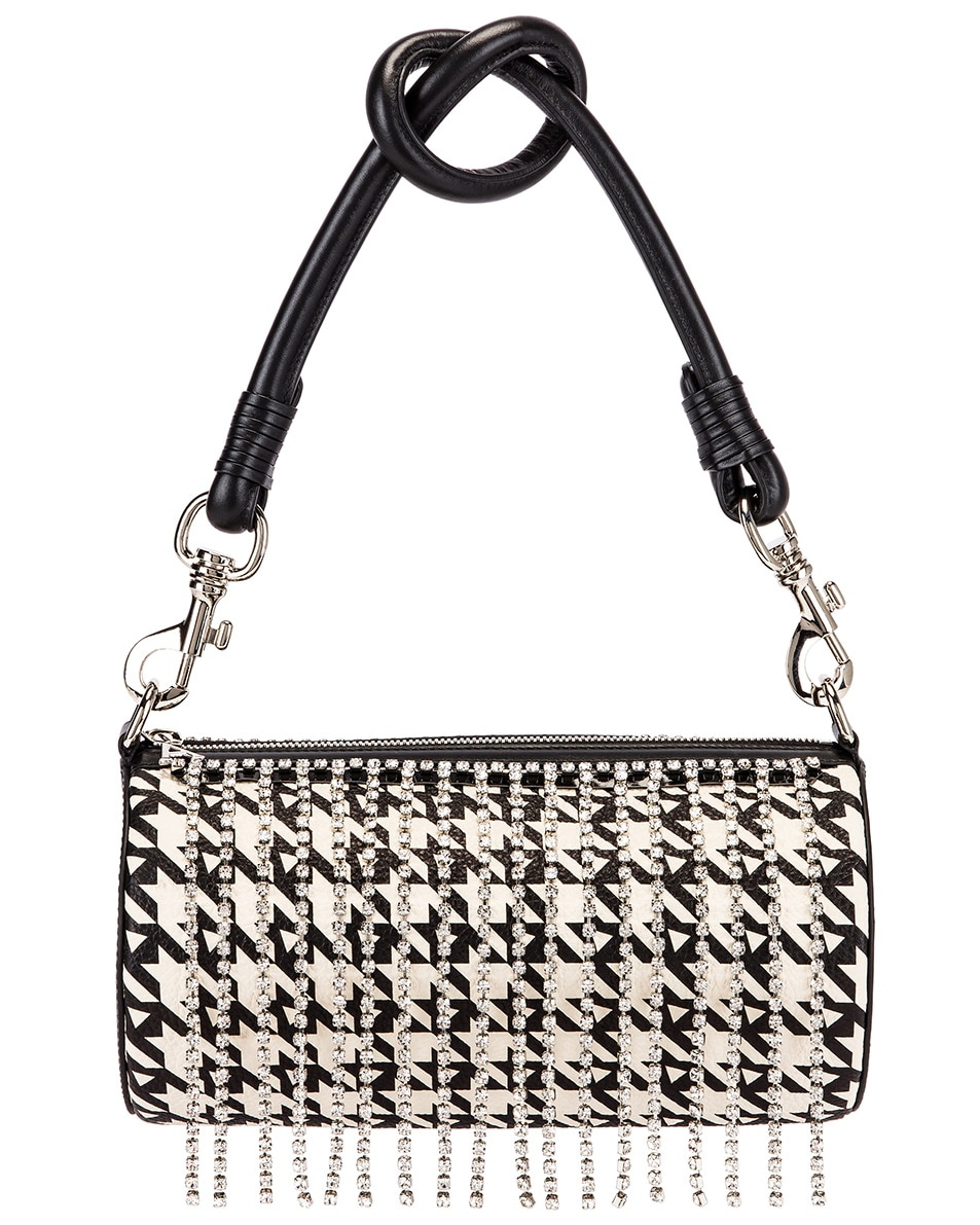 Image 1 of AREA Roll Bag in Black Houndstooth