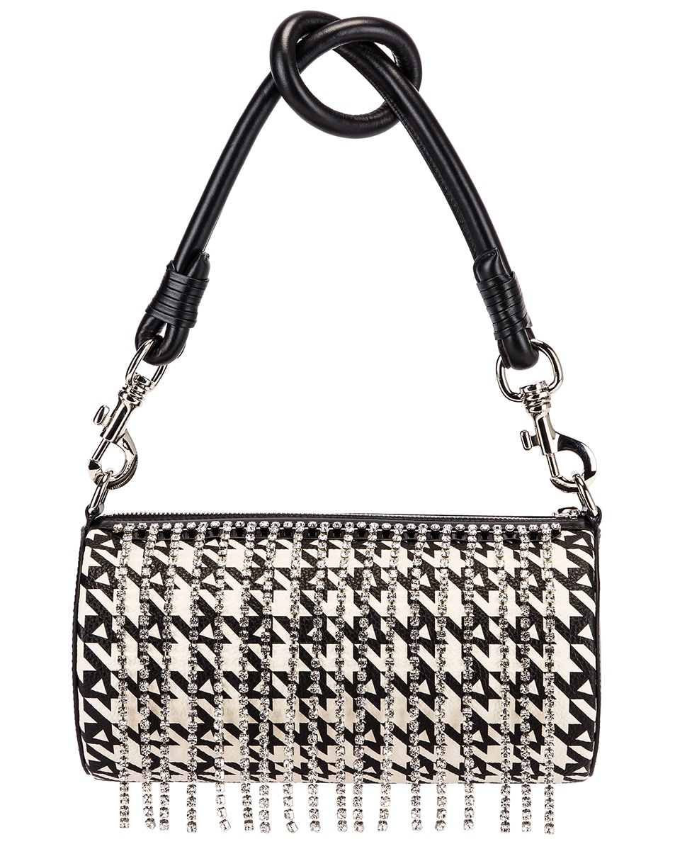 Image 2 of AREA Roll Bag in Black Houndstooth
