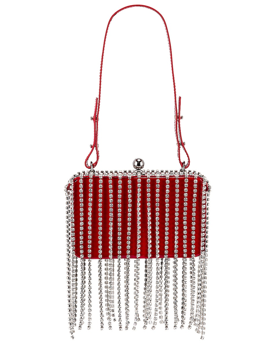 Image 1 of AREA Phone Clutch in Red