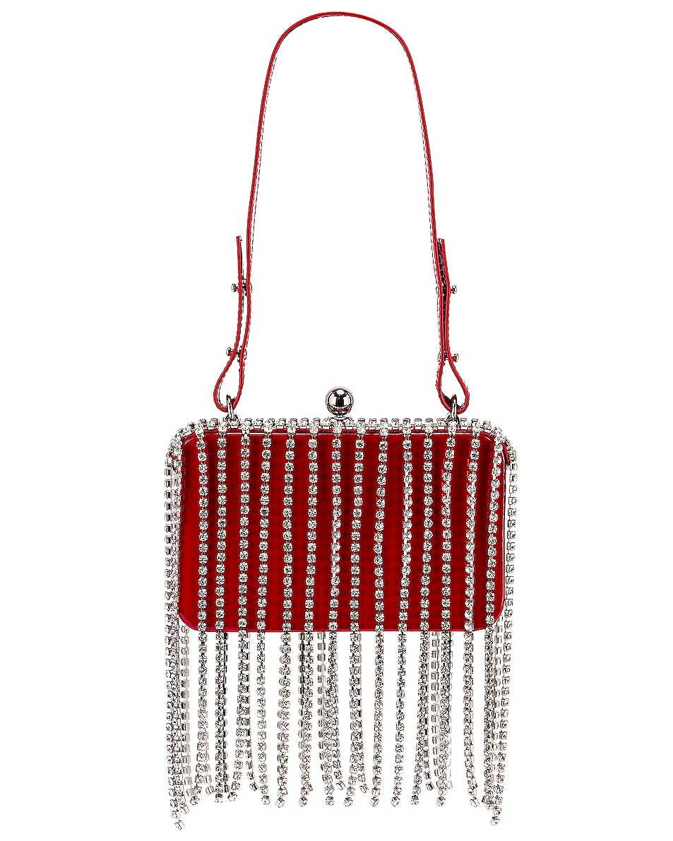 Image 3 of AREA Phone Clutch in Red