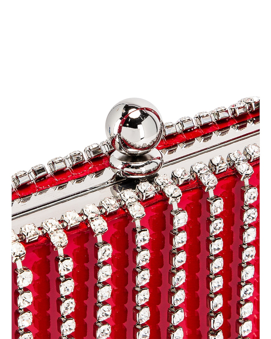 Image 7 of AREA Phone Clutch in Red