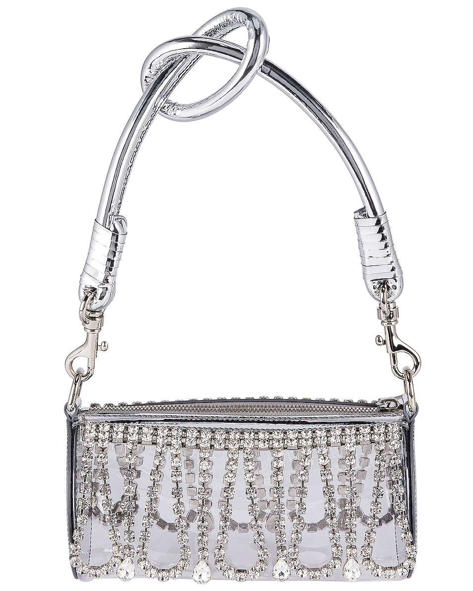 Image 3 of AREA Roll Bag in Silver & Clear