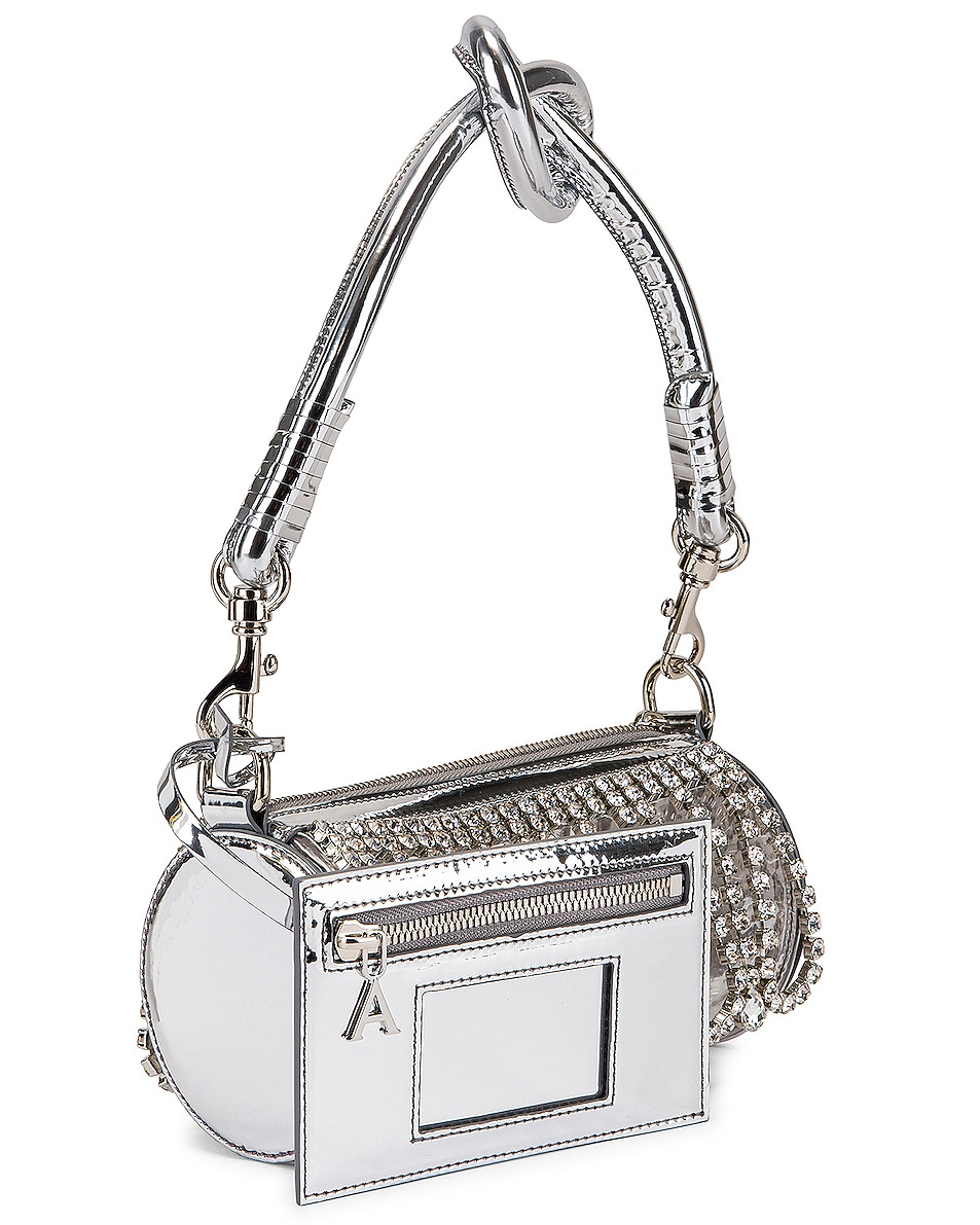 Image 4 of AREA Roll Bag in Silver & Clear