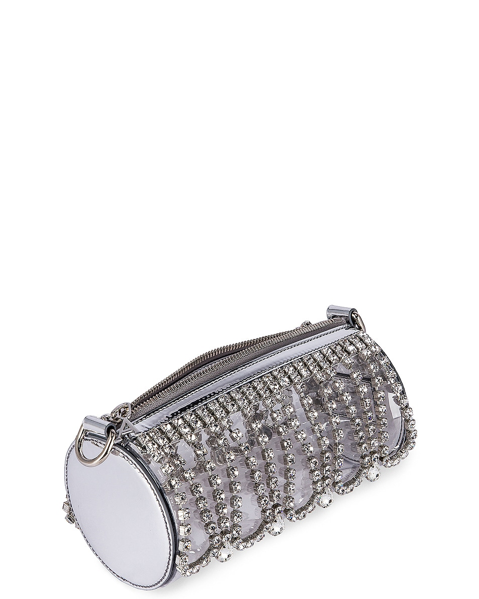 Image 5 of AREA Roll Bag in Silver & Clear