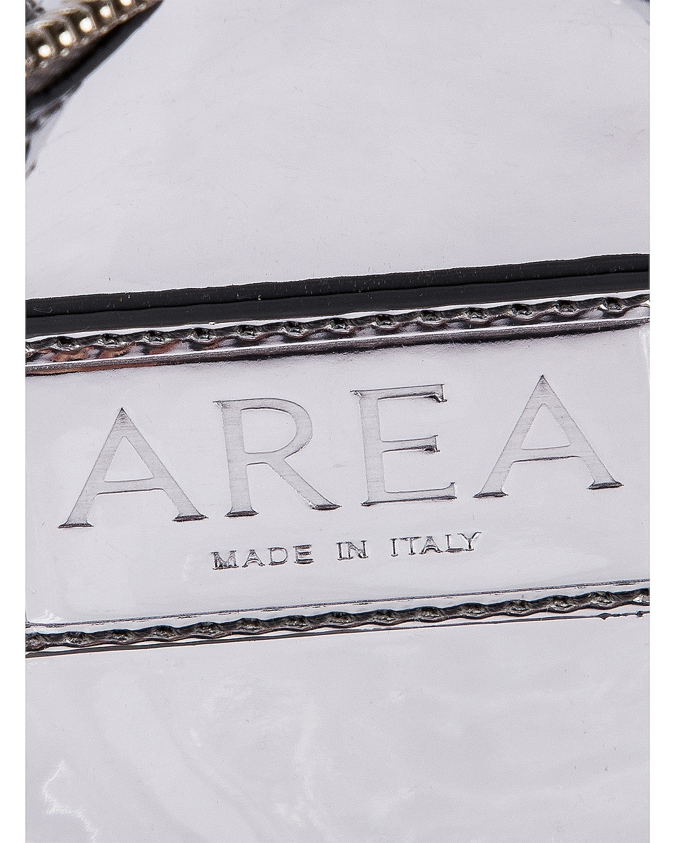 Image 6 of AREA Roll Bag in Silver & Clear