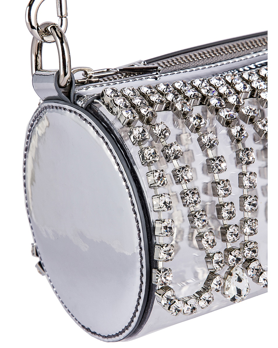 Image 7 of AREA Roll Bag in Silver & Clear