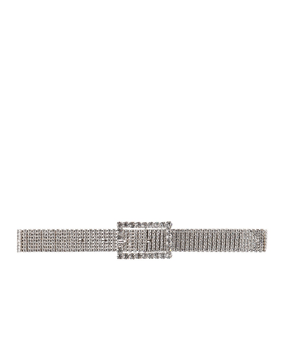 Image 3 of Alessandra Rich Crystal Strass Belt in Silver