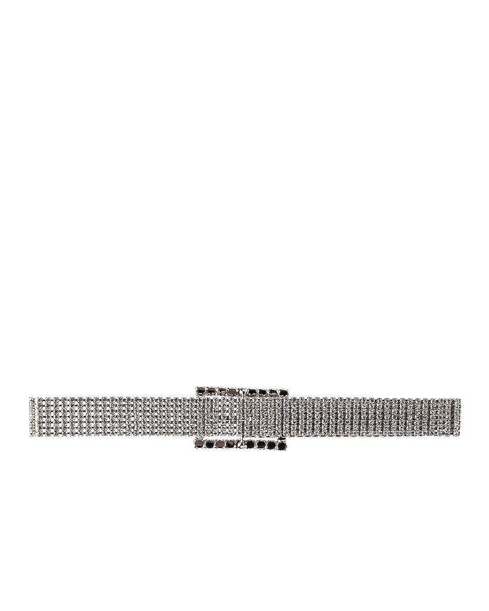 Image 4 of Alessandra Rich Crystal Strass Belt in Silver