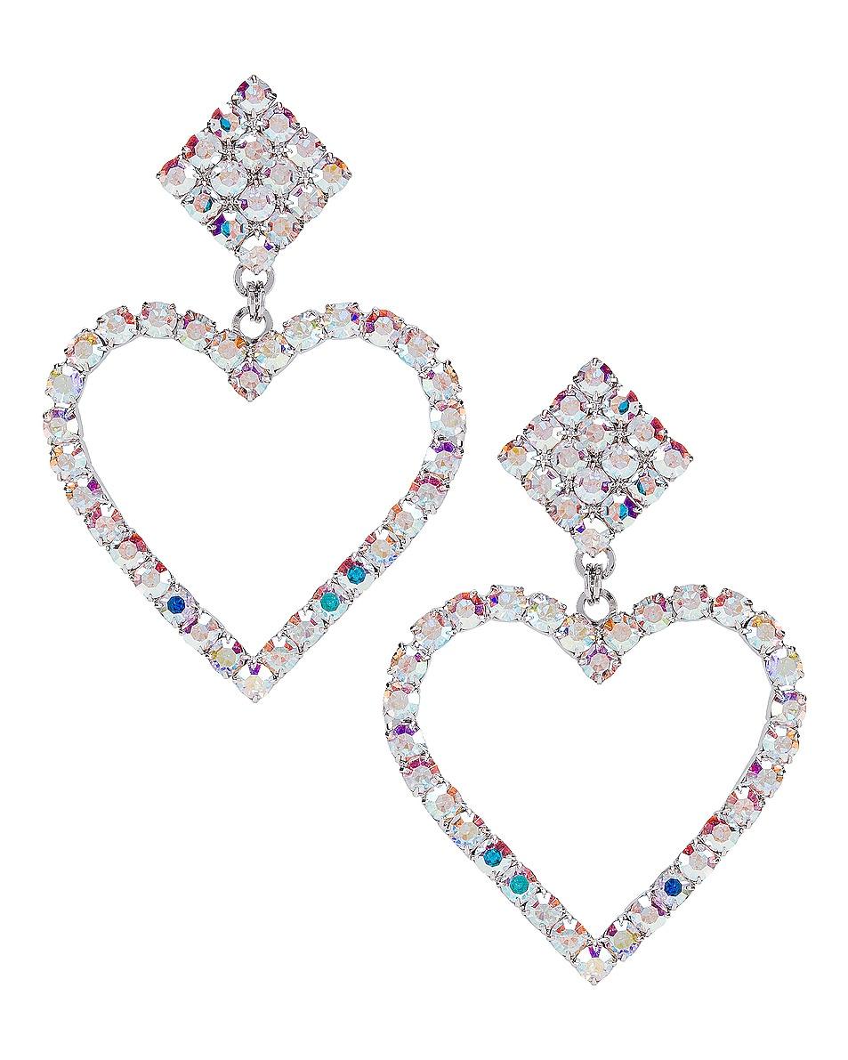Image 1 of Alessandra Rich Heart Earrings in Borealis