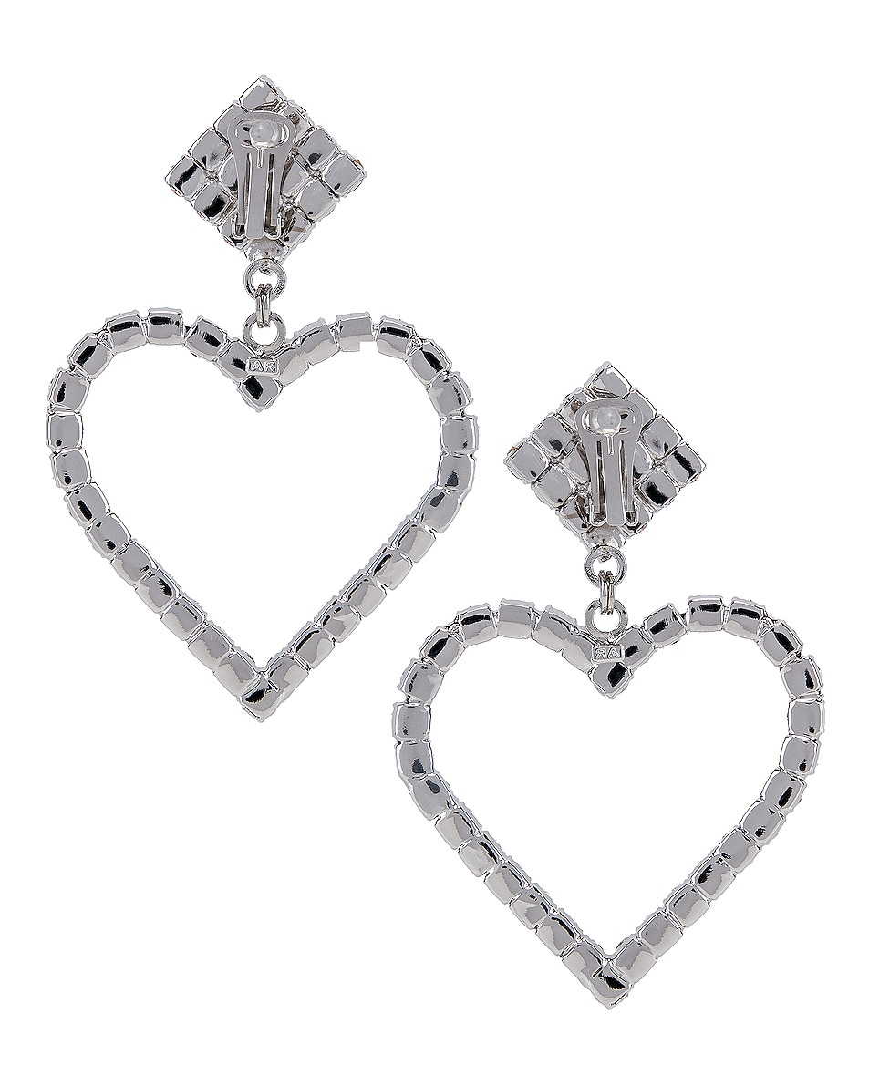 Image 3 of Alessandra Rich Heart Earrings in Pink