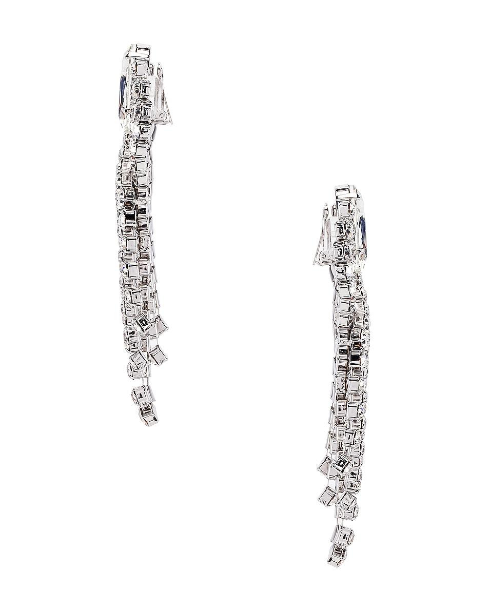 Image 3 of Alessandra Rich Ribbon Earrings in Silver