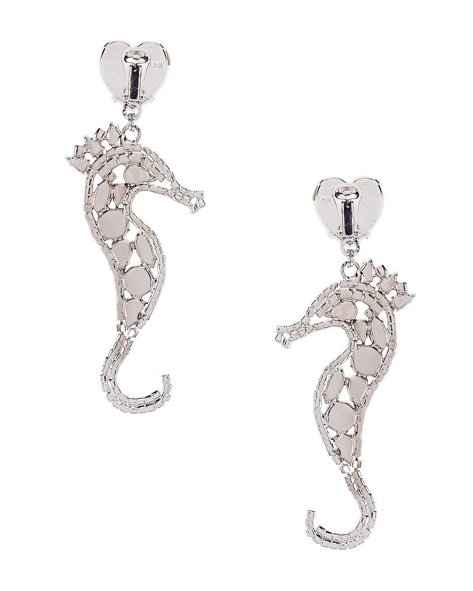 Alessandra Rich Seahorse Earrings Silver best