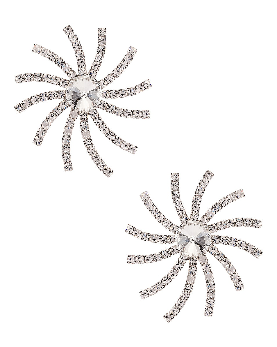 Image 1 of Alessandra Rich Crystal Star Earrings in Crystal