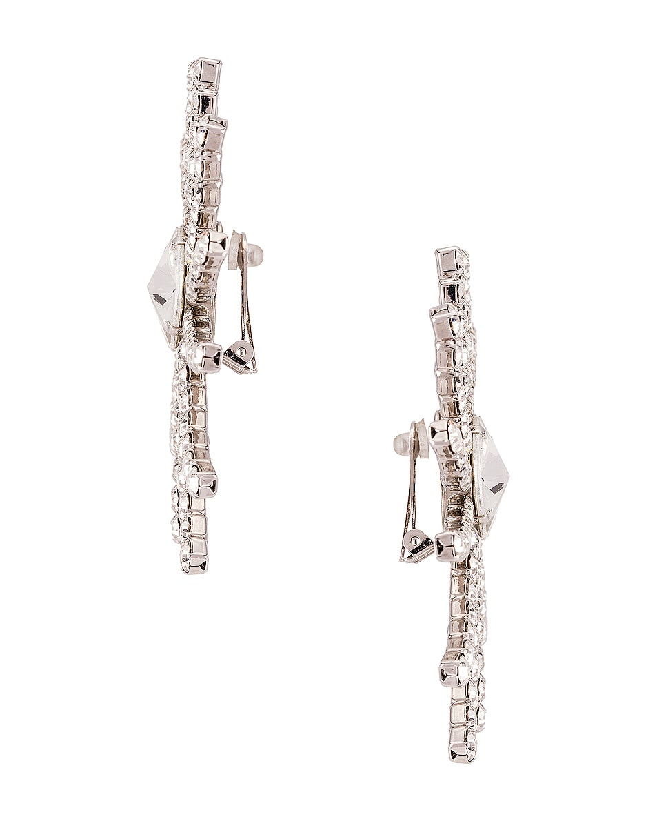Image 3 of Alessandra Rich Crystal Star Earrings in Crystal