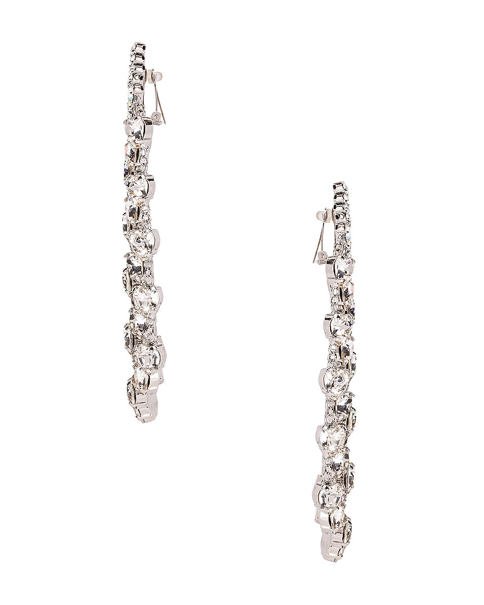 Image 3 of Alessandra Rich Heart Cascade Clip Earrings in Crystal