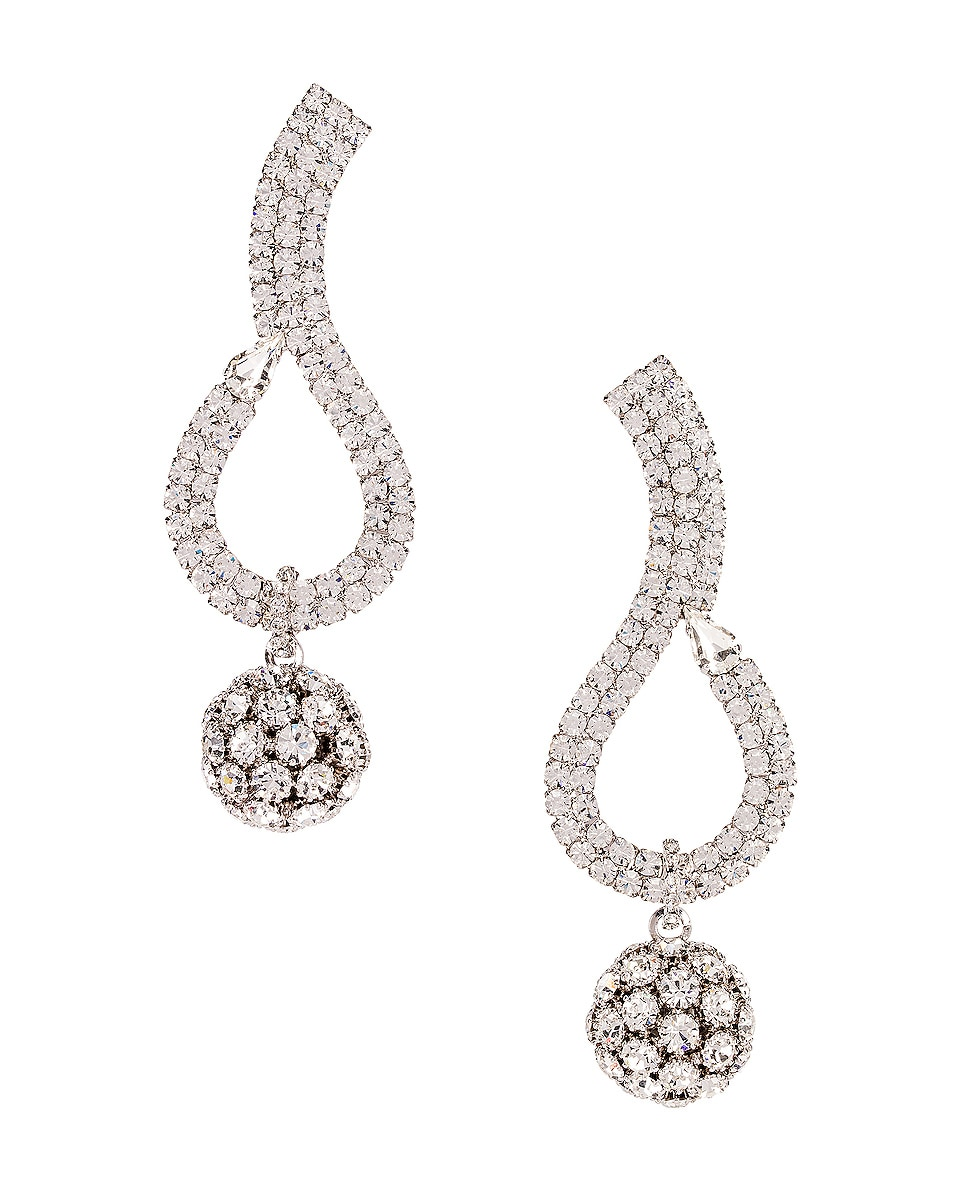 Image 1 of Alessandra Rich Sphere Earrings in Crystal