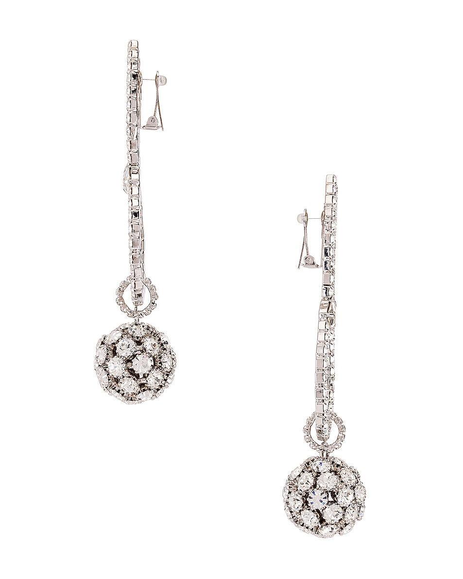 Image 3 of Alessandra Rich Sphere Earrings in Crystal