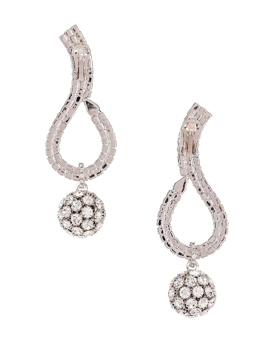 Image 4 of Alessandra Rich Sphere Earrings in Crystal