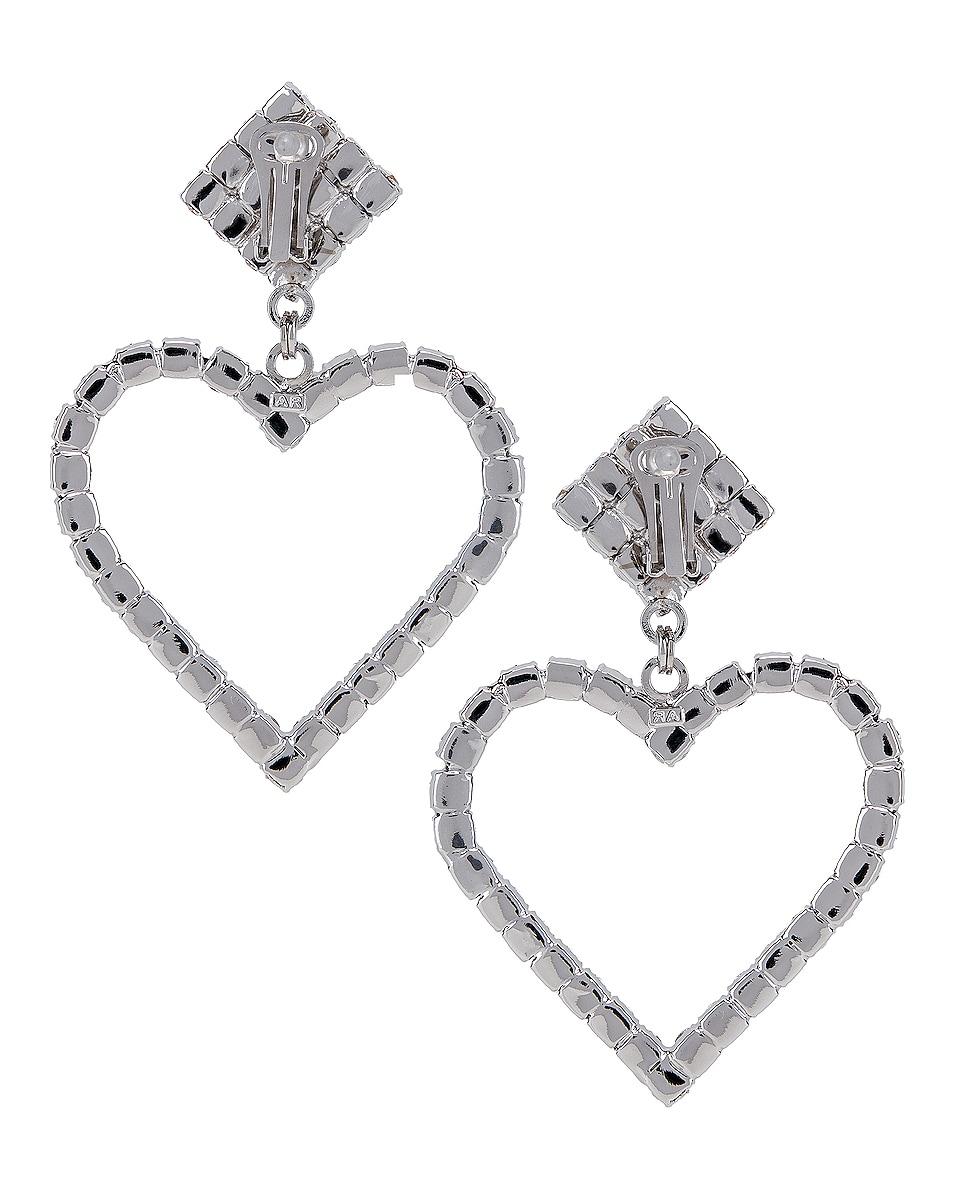 Image 4 of Alessandra Rich Heart Earrings in Pink