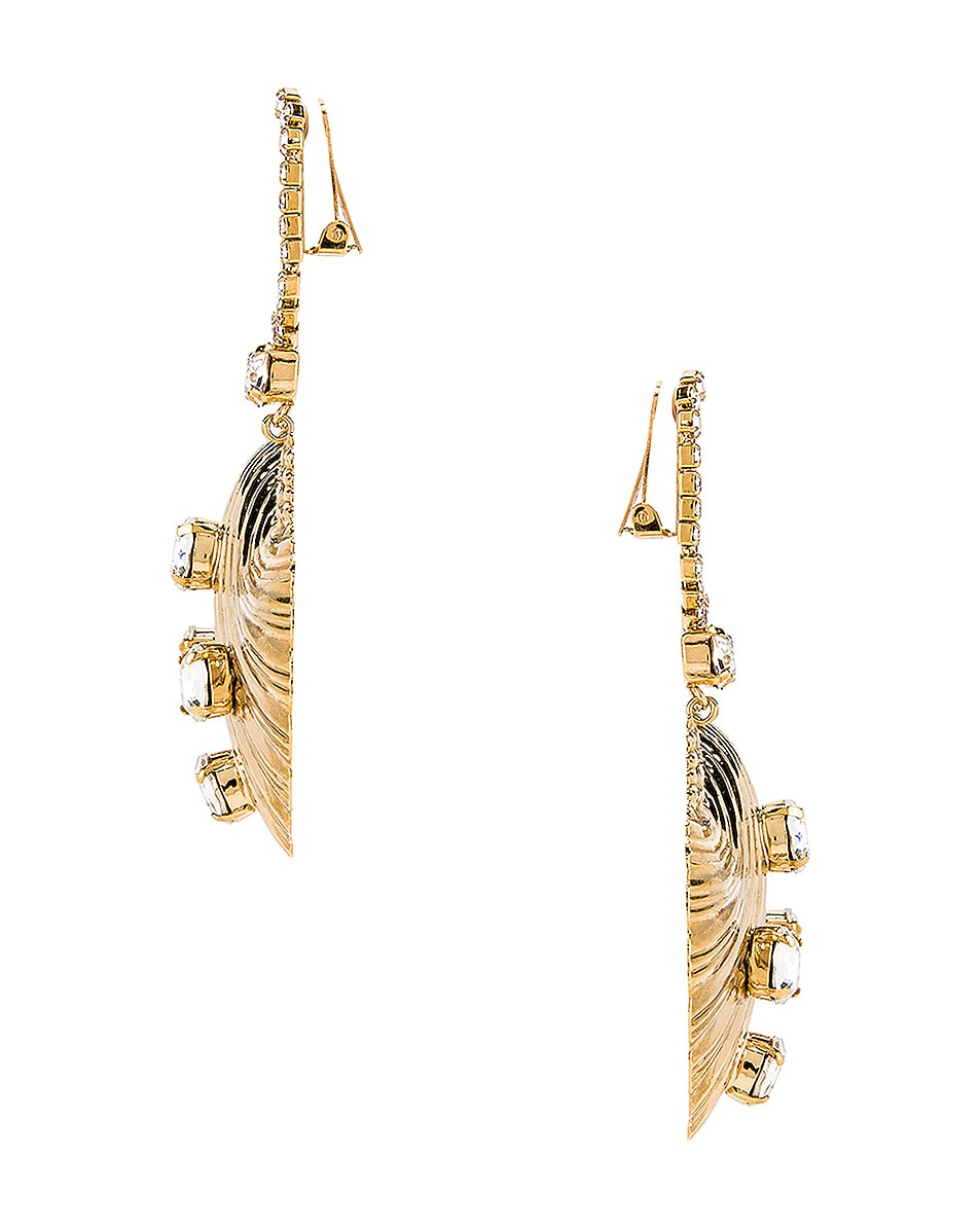 Image 3 of Alessandra Rich Shell Earrings in Gold