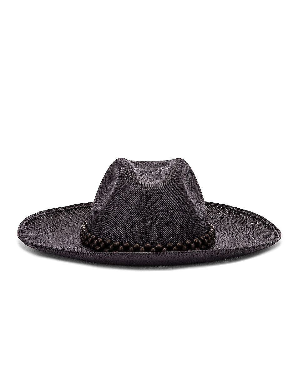 Image 1 of Artesano Peoni Beaded Hat in Black