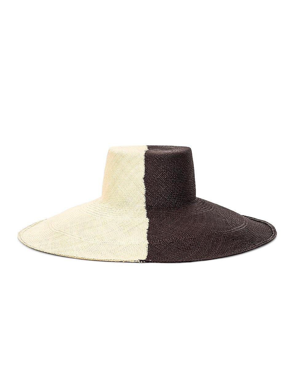 Image 1 of Artesano Urus Extra Wide Brim Hat in Natural & Black