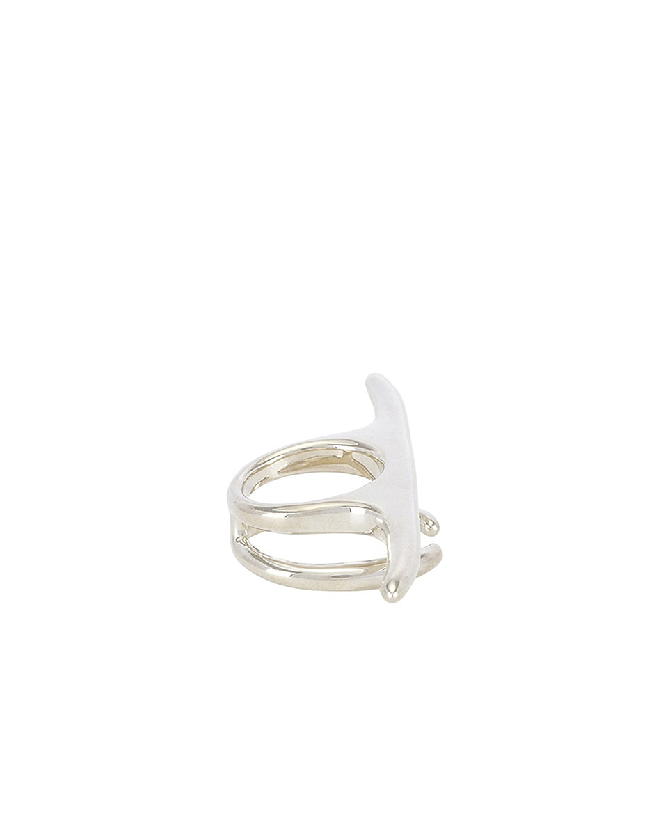 Image 2 of Ambush Liquid Multi Finger Ring in Silver